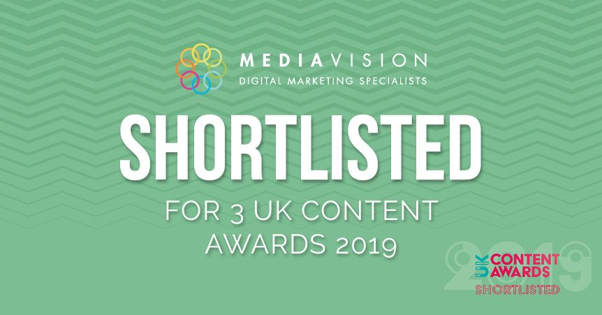 MediaVision Shortlisted for 3 UK Content Awards 2019